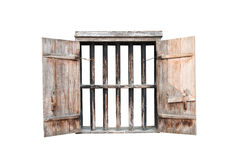 Old window isolated. Background picture Stock Photo