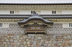 Old Window in the Japanese Castle. Royalty Free Stock Photos