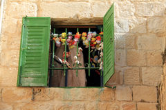 Old window,  Jerusalem Royalty Free Stock Image