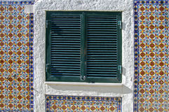 Old window in Lisboa Stock Images