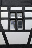 Old window of a medieval house (Switzerland) Stock Image