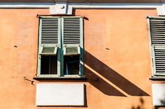 Old window in Nice city, France. Royalty Free Stock Images