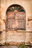 Old window on Old wall Stock Photography
