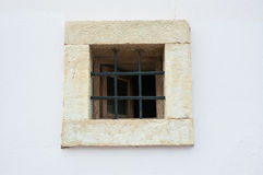 Old window on old wall Royalty Free Stock Images