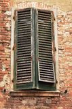 Old window. With red bricks Royalty Free Stock Images