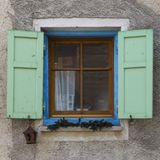 Old window with open shutters Royalty Free Stock Photos