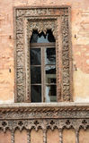 Old window in palace on Piazza Sordello The historic city center of Mantova Lombardy Royalty Free Stock Images