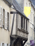 Old window pane in Bayeux, France Royalty Free Stock Photos