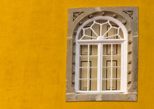 Old window at the pena-palace in sintra Royalty Free Stock Images