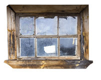 Old window. With rectangular layout Stock Photos