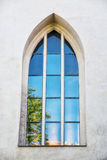 Old window with reflections, Spilberk castle, Brno, Czech republ Royalty Free Stock Photography