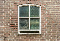 Old window with reinforced glass from close Royalty Free Stock Photo