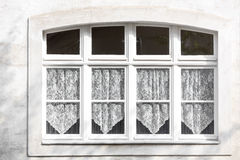 Old window of a residential home royalty free stock photo