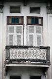 Old window on the retro building Royalty Free Stock Photo