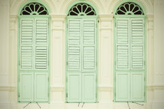 Old window retro pastel tone classic color background. Stock Images