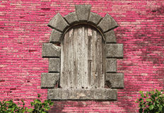 Old window. Retro style picture. Marie Galante Island, Guadeloupe, Caribbean Islands, France Stock Images