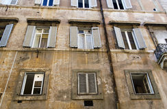 Old window in Rome Stock Photography