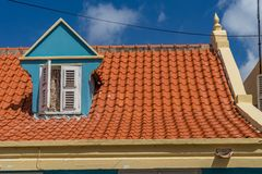 Old  Window in a roof   Otrobanda  Curacao Views Stock Images