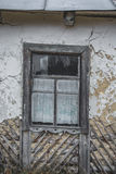 OLd window. Old window in a ruined house in the village Royalty Free Stock Images