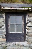 Old Window in Rural House. Old Window in Traditional Rural Stone House Stock Images