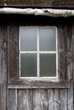 Old Window in Rural House. Old Window in Traditional Rural Stone House Royalty Free Stock Images