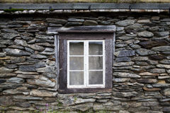 Old Window in Rural House. Old Window in Traditional Rural Stone House Royalty Free Stock Photos