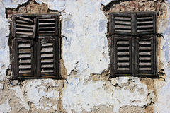 Old window-shaders Royalty Free Stock Images