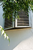 Old window with  shutters. Old window with sun shutters Stock Photography