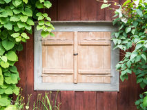 Old window with shutters closed Royalty Free Stock Image