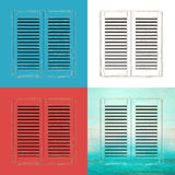 Old window shutters illustration Royalty Free Stock Photos