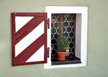 Old window with shutters. Made of wood Royalty Free Stock Photos