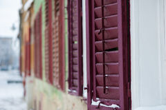 Old window shutters. In the old town of sibiu Stock Image