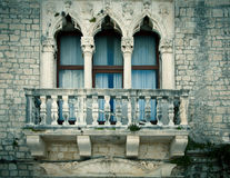 Old window with a small balcony Stock Photography