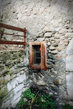 Old window. Small old window in the wall royalty free stock photography