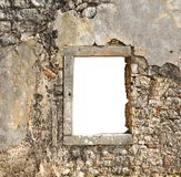Old window in a stone wall Royalty Free Stock Photo