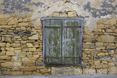 Old Window in Stone Wall Royalty Free Stock Photography