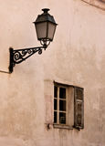 Old window and street lamp Royalty Free Stock Photos