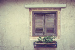 Old window. By tuscany style - Vintage Filter Royalty Free Stock Photo