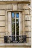 Old window, upstairs Paris. Stock Photo