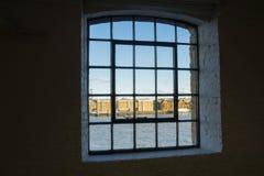 Through old window. Royalty Free Stock Photos