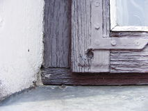 An old window. In village royalty free stock photography