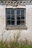 Old window and wall Royalty Free Stock Images