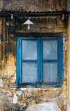 Old window with the wall in Hoi An, Vietnam Stock Image