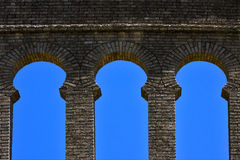 old window and wall in plaza de toros Stock Images