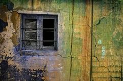 Old window wall wallpaper Royalty Free Stock Photography