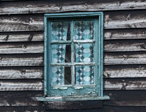 Old window on weathered derelict building Royalty Free Stock Photos