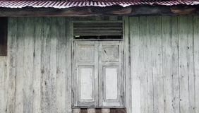 Old window , wood background ,old wall Royalty Free Stock Photography