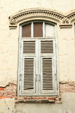 Old window with wood frame. Royalty Free Stock Image