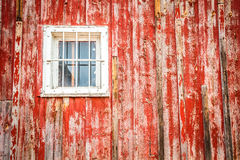 Old window in wooden building Stock Photography