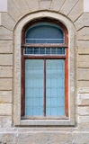 Old window. Window in old wooden frame Royalty Free Stock Images